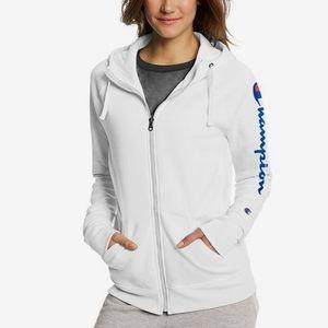 Champion Women Hooded Full-Zip Logo_Print